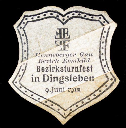 Turnerbund Henneberger Gau Bezirk Römhild Bezirksturnfest in Dingsleben 9 juni 1912