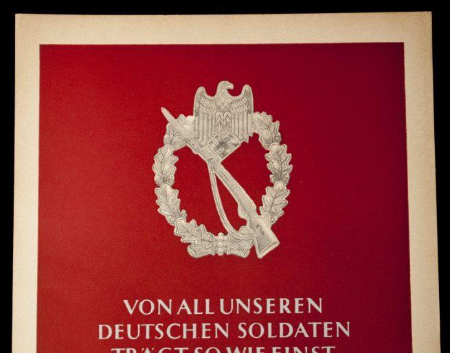 WWII German NSDAP Wochenspruch (propaganda miniposter) - Infanterie Sturmabzeichen 1942