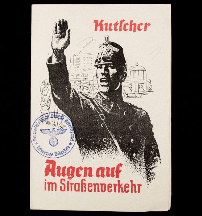 """WWII German Police pamphlet: Kutscher Augen auf im Strassenverkehr """"Zehn Gebote für Kutscher"""""""
