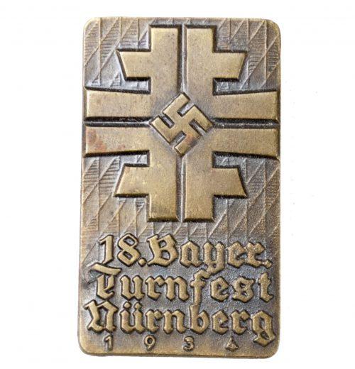 18. Bayer. Turnfest Nürnberg 1934 abzeichen