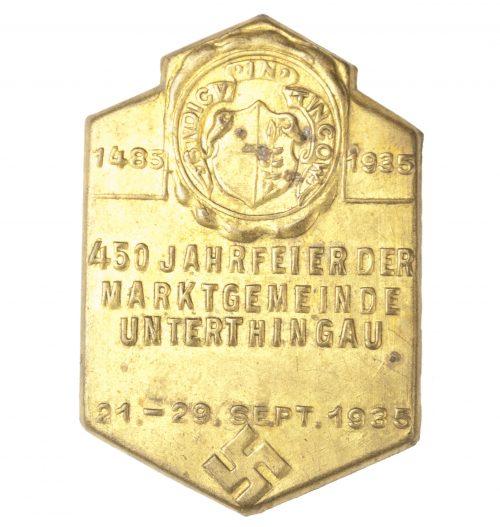 450 Jahrfeier der Marktgemeinde Unterthingau 1935 abzeichen