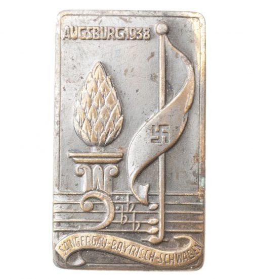 Augsburg 1938 Sängergau Bayrisch Schwaben abzeichen