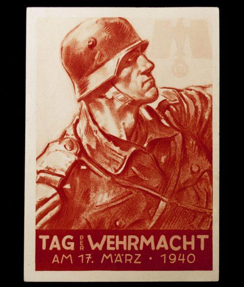 Postcard: Tag der Wehrmacht am 17. März 1940