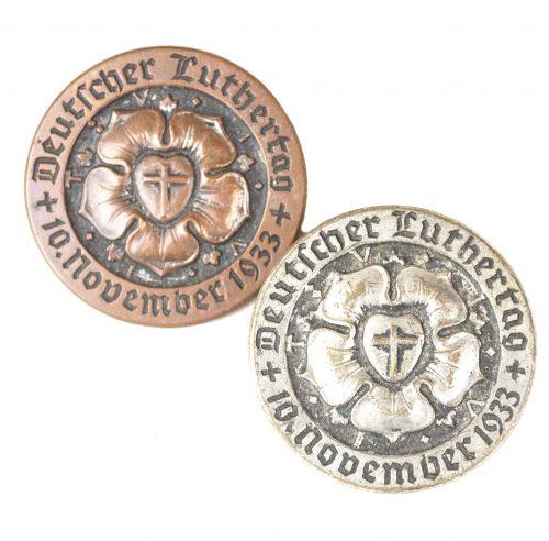 Deutscher Luthertag 10. November 1933 (bronze and silver badges)