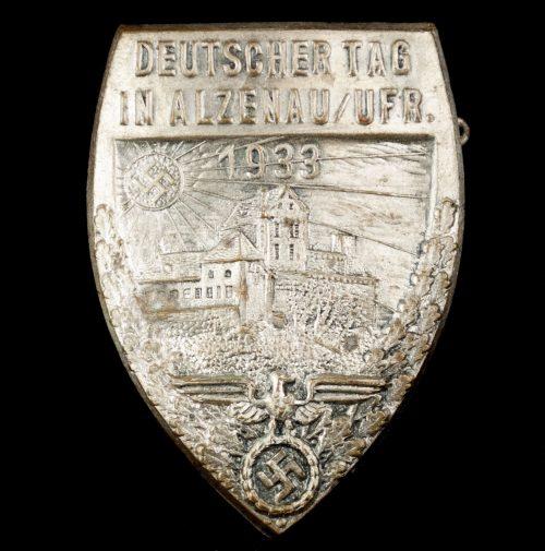 Deutscher Tag in Alzenau / Ufr. 1933 (with paper makers sticker)