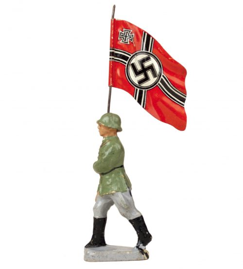 Elastolin Flag bearer red (Reichskriegsfahne) figure