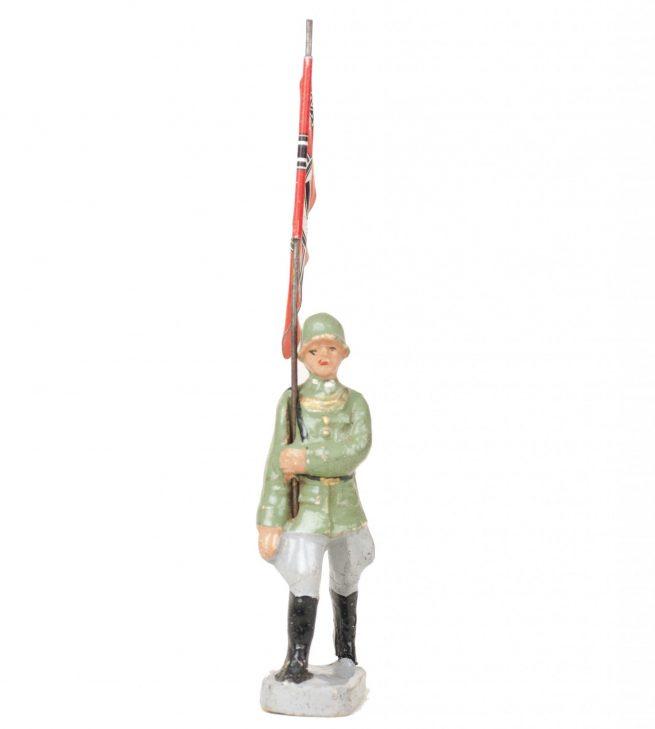 Elastolin Flag bearer red (Reichskriegsfahne) figure
