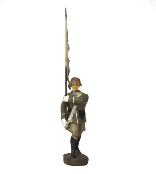 Elastolin Flag bearer white (infanterie) figure
