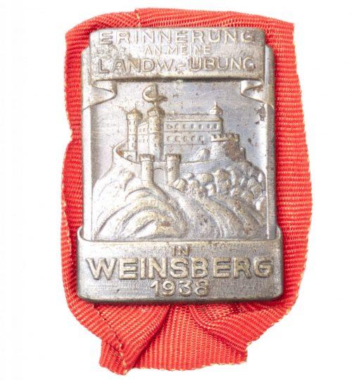 Erinnerung an meine landwehr Übung in Weinsberg 1938