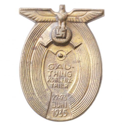 Gau Thing Koblenz Trier 22.23 Juni 1933 abzeichen