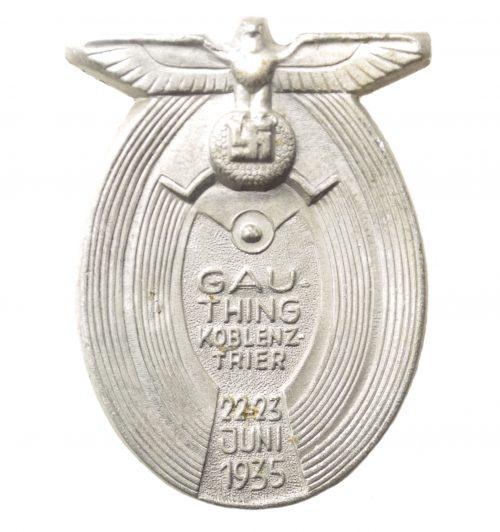 Gau Thing Koblenz Trier 22.23 Juni 1933 abzeichen (silver color)