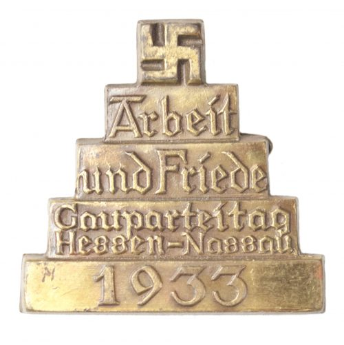 Gauparteitag Hessen-Nassau 1933 Arbeit und Friede badge
