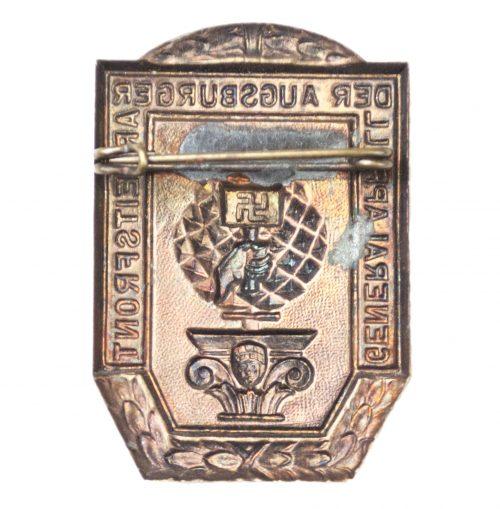 Generalappell der Augsburger Arbeitsfront badge