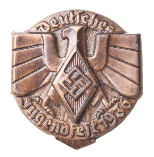 """Hitlerjugend - Deutsches Jugendfest 1936 """"closed"""" abzeichen (HJ badge)"""