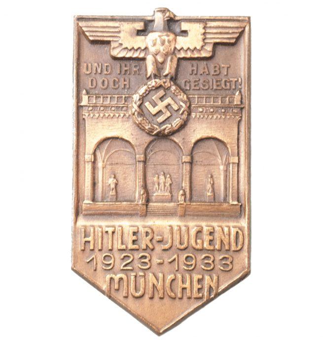 Hitlerjugend (HJ) - 1923- 1933 München (Und Ihr habt doch Gesiegt) abzeichen