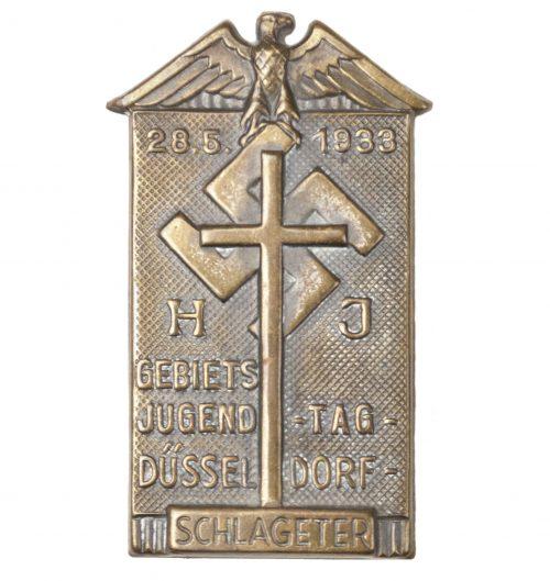 Hitlerjugend HJ Gebietsjugend Tag Düsseldorf 28.5.1933 Schlageter