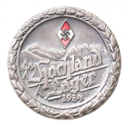 Hitlerjugend (HJ) Hochland Lager 1934 abzeichen