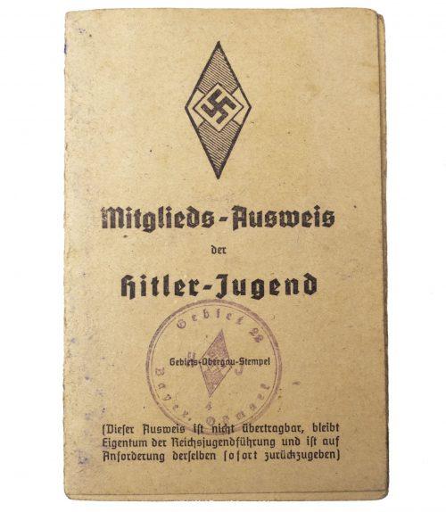 Hitlerjugend (HJ) - Mitgliedsausweis der Hitlerjugend
