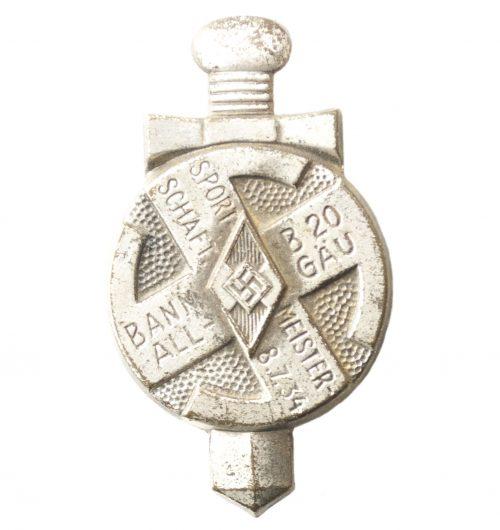 Hitlerjugend (HJ) Sportmeisterschaft 8.7.34 Bann B20 Allgau (silver color)