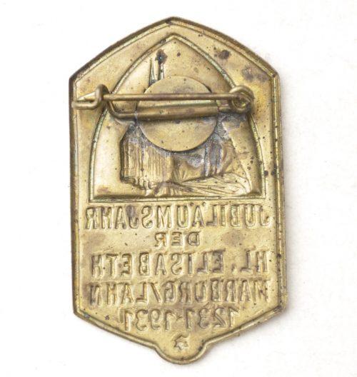Jubiläumsjahr der Hl. Elisabeth Marburg/Lahn 1231-1931 badge