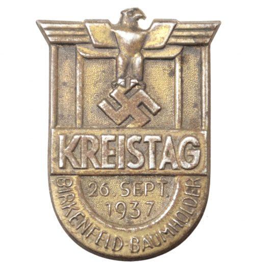 Kreistag Birkenfeld-Baumholder 26 September 1937 abzeichen