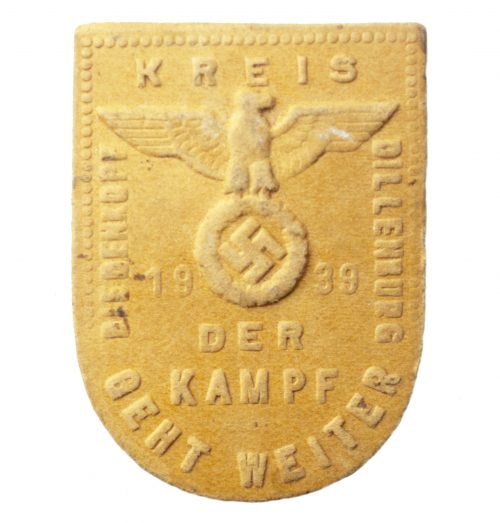 """Kreistag der NSDAP Biedenkopf Dillenburg """"Der Kampf geht Weiter"""" 1939"""
