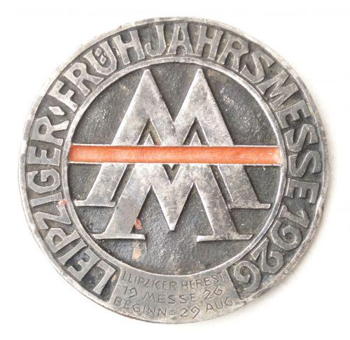 Leipziger Frühjahrsmesse 1926 abzeichen