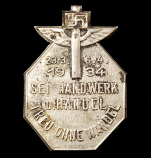N.S. Hago - Sei Handwerk u. Handel 23.3.-6.4.1934 Treu ohne Wandel abzeichen