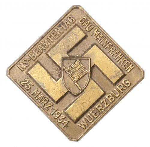 NS-Beamtentag Gau Mainfranken 25. März 1934 Wuerzburg abzeichen