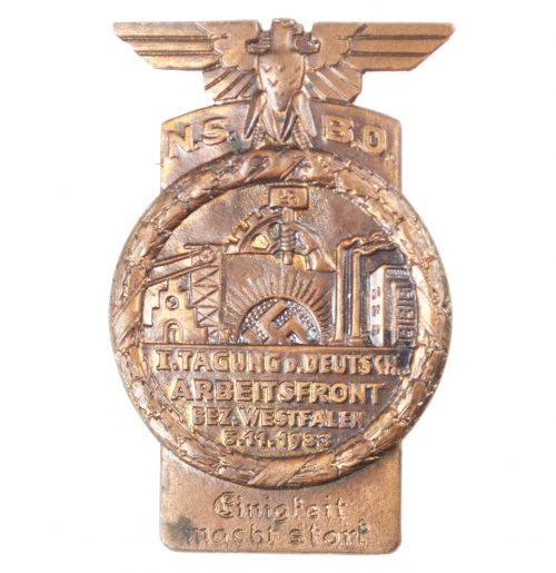 NSBO - I. Tagung d. Deutsche Arbeitsfront Bez. Westfalen 5.11.1933