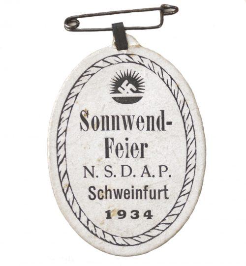 NSDAP Sonnwendfeier Schweinfurt 1934