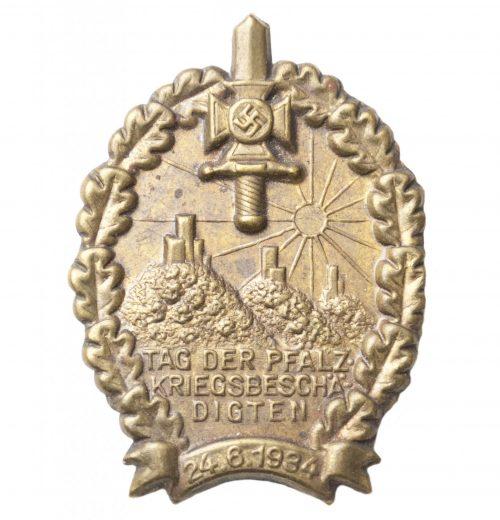 NSKOV Tag der Pfalz Kriegsbeschädigten 24.6.1934 abzeichen
