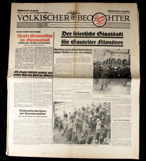 Newspaper: Völkischer Beobachter München 20 Februar 1939