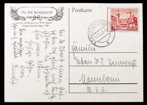 Postcard: Tag der Wehrmacht 1940 (by Sauter)