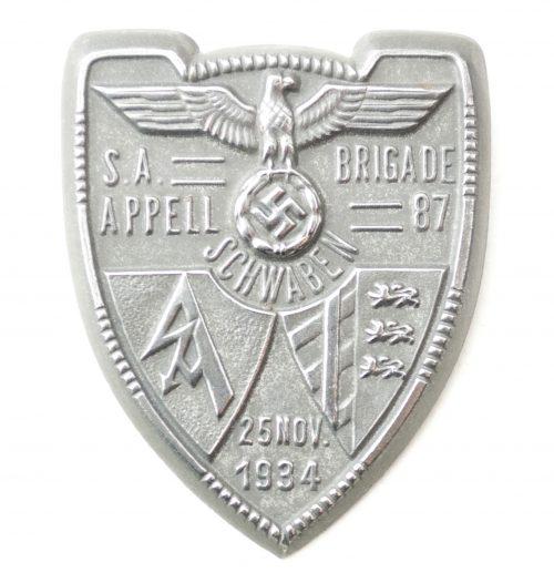 SA Brigade Appell 87 Schwaben 25. Nov. 1934