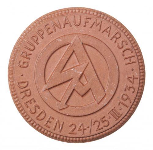 SA Gruppenaufmarsch Dresden 24./25.III.1934 plaque