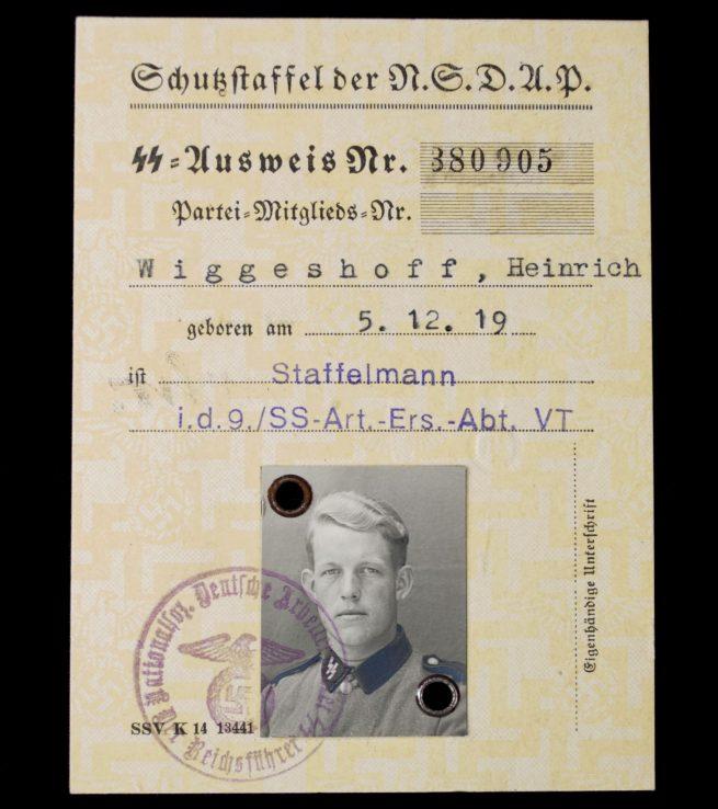 SS Ausweis - Schutzstaffel der NSDAP (1940)