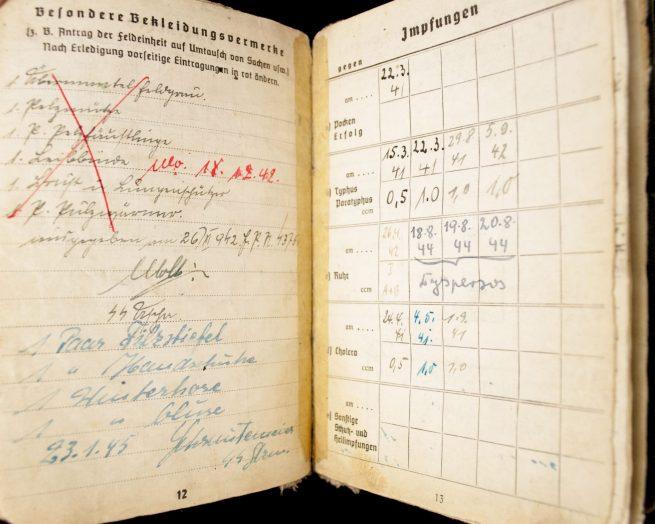 """SS Soldbuch - SS Totenkopf Standarte 4 / SS infanterie Regiment 4 """"Ostmark"""""""