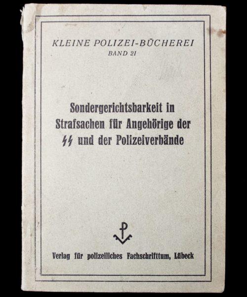 Sondergerichtsbarkeit in Strafsachen für Angehörige der SS und der Polizeiverbände