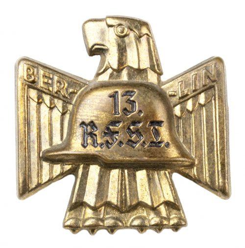 Stahlhelmbund 13. R.F.S.B. (Reichsfrontsoldatenbund) abzeichen 1932 (gold colour)
