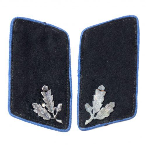 Stahlhelmbund set of collartabs with blue piping for local self-defense squads (Heimatschutz).
