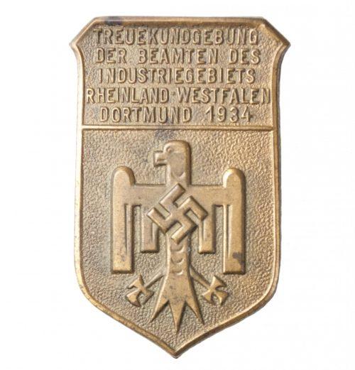 Treuekundgebung der Beamten des Industriegebiets Rheinland-Westfalen Dortmund 1934
