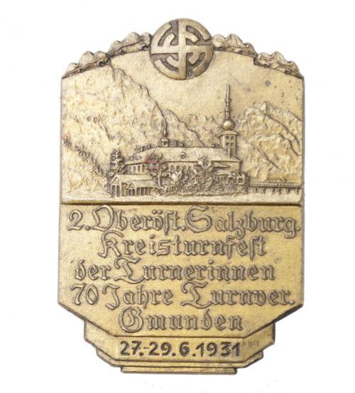 Turnerbund 2. Oberost Salzburg. Kreisturnfest der Turnerinnen 70 Jahre Turnverband Gmunden 1931