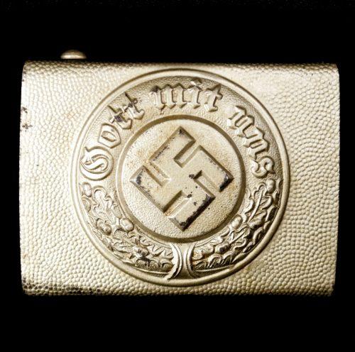 WWII Deutsche Polizei Stahl Koppelschloss / Police Steel Buckle (maker CTD)