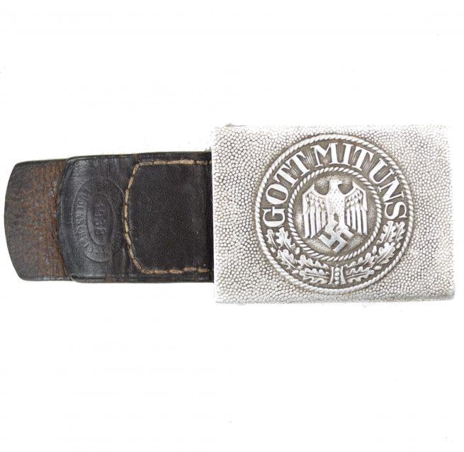 "Wehrmacht (heer) Aluminium buckle + tab by maker ""FLL"""
