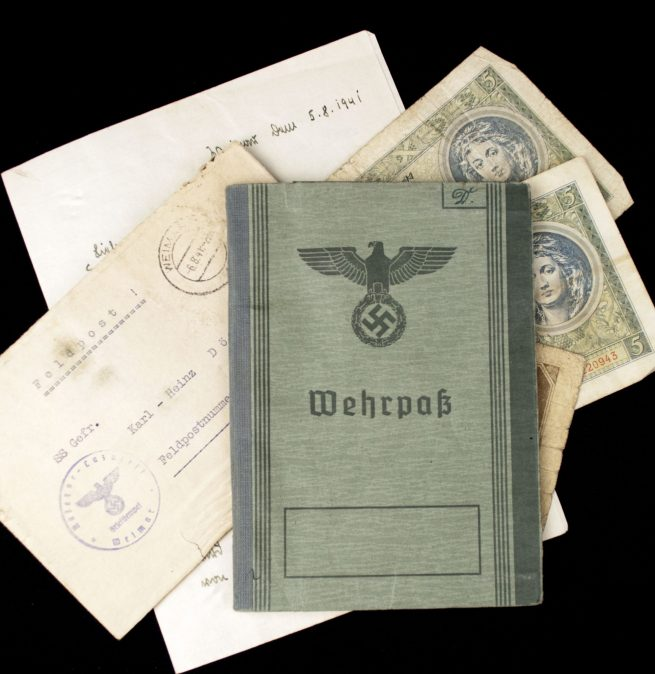 "Wehrpass SS-Standarte ""Germania"" and ""Westland"" + Feldpost"