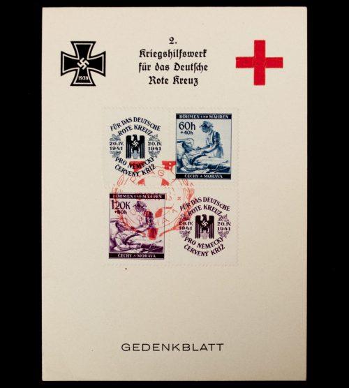 2. Kriegshilfswerk für das Deutsche Rote Kreuz (DRK) Gedenkblatt 1942