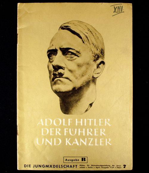 Brochure: Adolf Hitler Der Führer und Kanzler (Gold cover!)