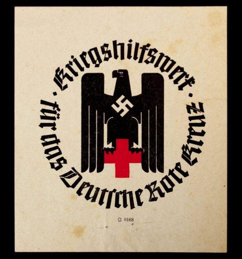 (DRK) Kriegshilfswerk für das Deutsche Rote Kreuz Flyer (1942)