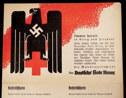 Deutsche Rote Kreuz (DRK) Bestellschein DRK Magazine